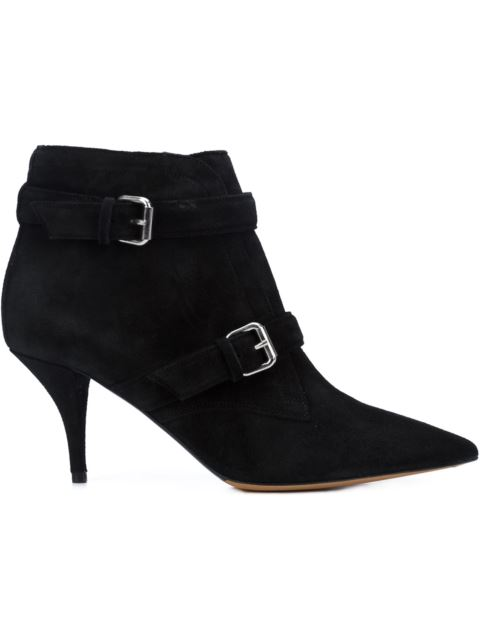 Tabitha Simmons Fitz 75 Suede Ankle Boots In Black