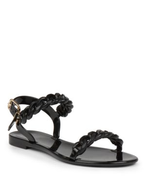 4fabcbac0243 Givenchy Nea Jelly Flat Sandals In Black