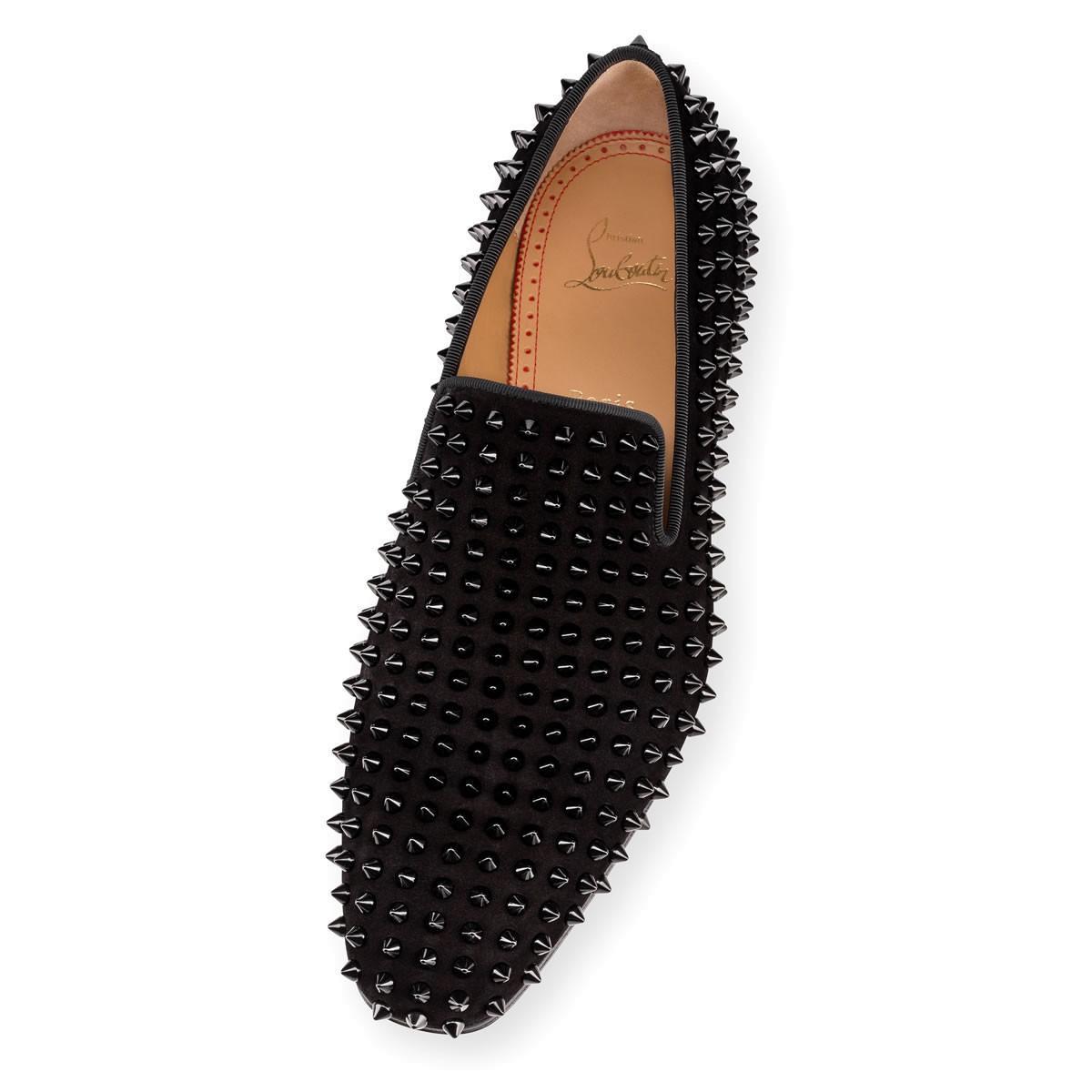 f676162a84c1 Christian Louboutin Spiked Dandelion Venetian Loafers - Black