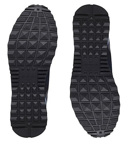 Valentino Men's Rockrunner Camo-Print Sneakers, Blue, Blue Camo In M14 Marine