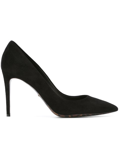 Dolce   Gabbana Suede Pumps With A Leopard Print Sole In Black 5feec6306ab43