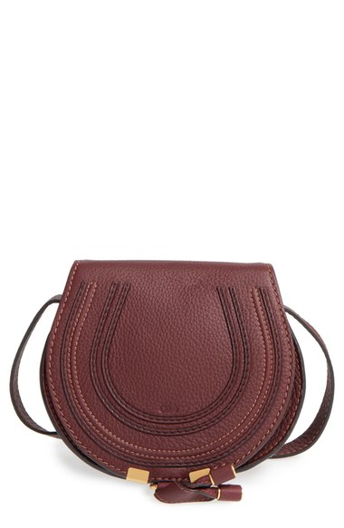 ChloÉ 'marcie - Medium' Leather Crossbody Bag In Dark Velvet