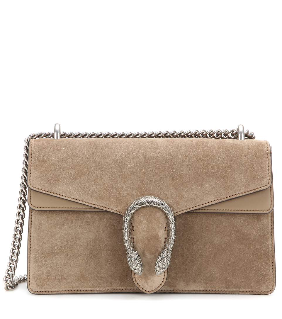 47db3f02bdb5 Gucci Testa Tigre Small Suede Dionysus Shoulder Bag, Taupe In Beige ...