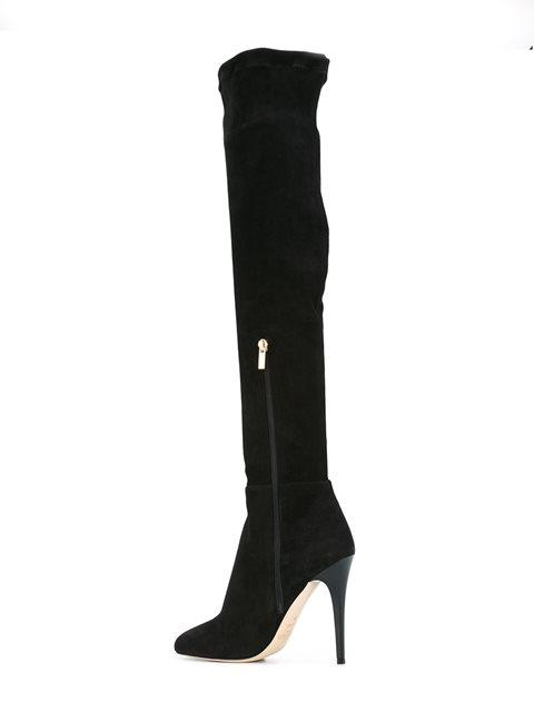 1c286fbeb6e Turner Black Suede And Stretch Suede Over The Knee Boots