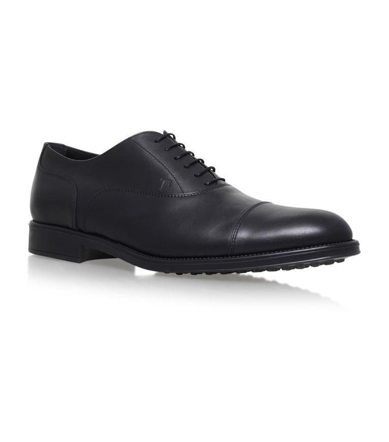 Tod's Cap Toe Lace-up Oxfords In Black