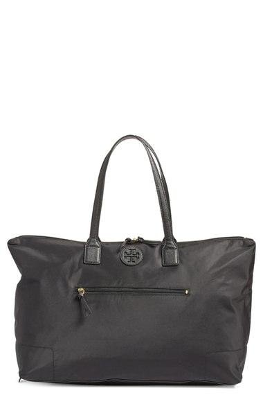Tory Burch Ella Packable Overnight Satchel Bag, Black   ModeSens bbb5a1654a