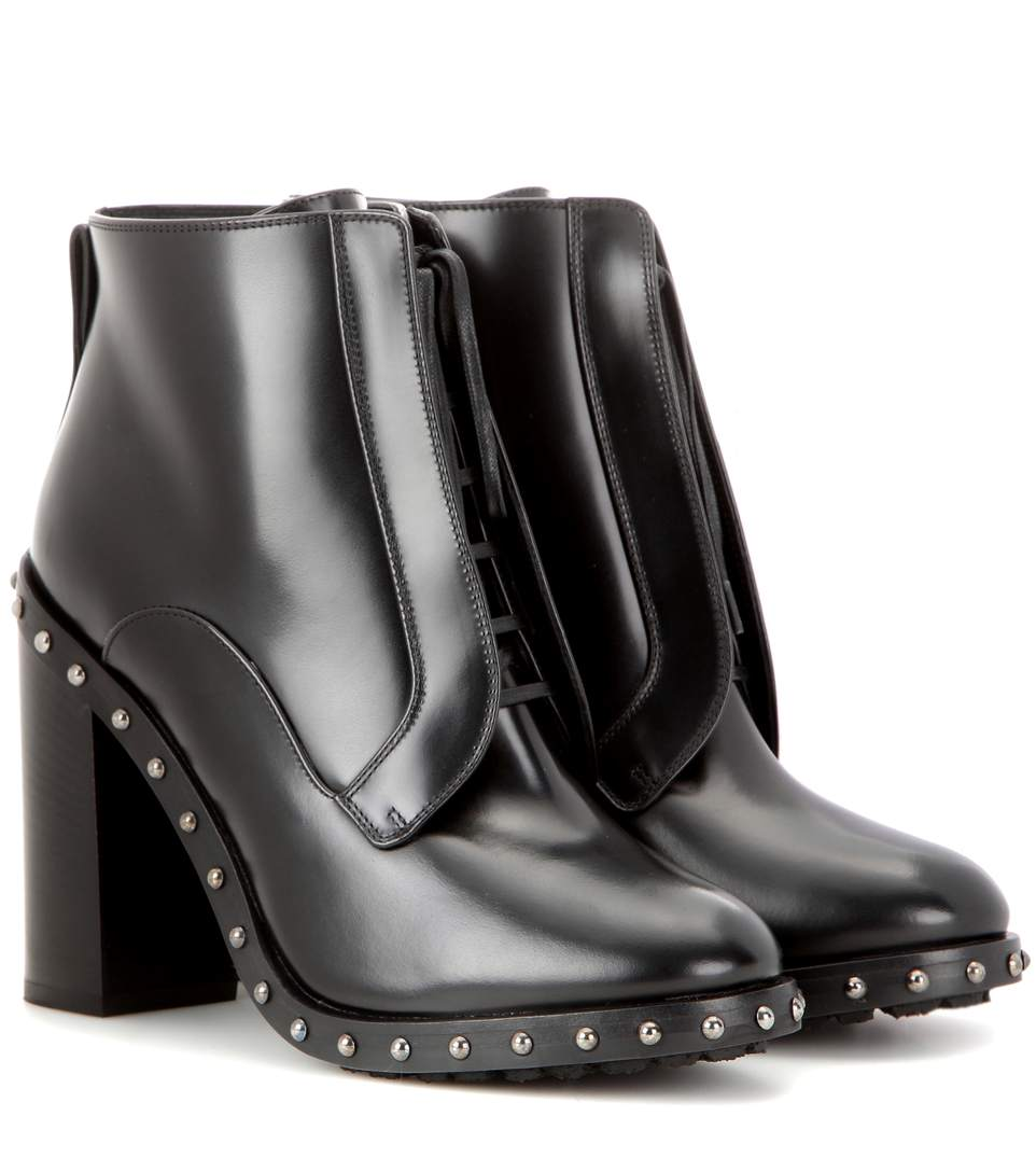 8b1a15d18e9d Dolce   Gabbana Leather Ankle Boots In Black