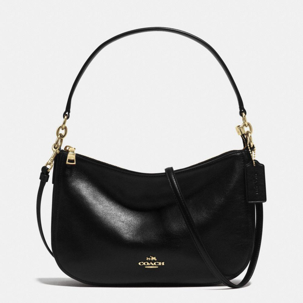 719e11d8f5 Coach Chelsea Crossbody In Smooth Calf Leather In   Light Gold Black ...