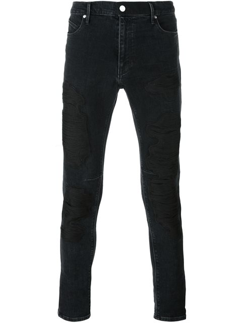 7ee038510ac Rta Embroidered Skinny Jeans - Black | ModeSens