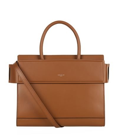 Givenchy Horizon Small Smooth Leather Satchel Bag, Tan In Carame