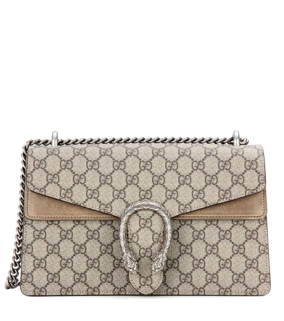 597d2e3d5204 Gucci Small Dionysus Gg Supreme Canvas & Suede Shoulder Bag In Beige ...