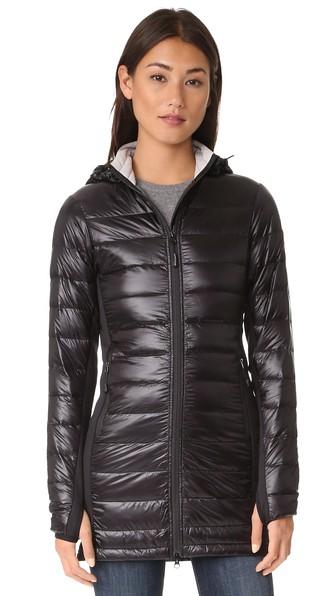 438376365491 Canada Goose  Hybridge Lite  Slim Fit Hooded Packable Goose Down Coat In  Black. Shopbop