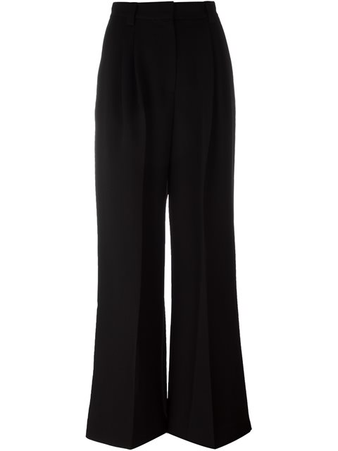 743fb49631e Marc Jacobs Elastic-Waist Wide-Leg Striped-Jacquard Pants In Black ...