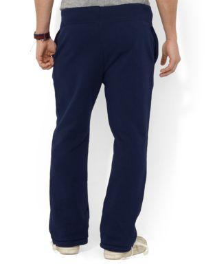 Men's Big & Tall Cotton-blend-fleece Pants In Navy