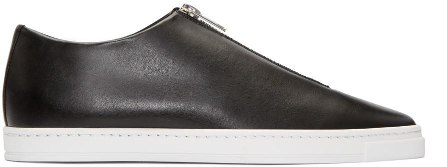 Stella Mccartney Sligo Faux-leather Zip-front Sneaker, Black