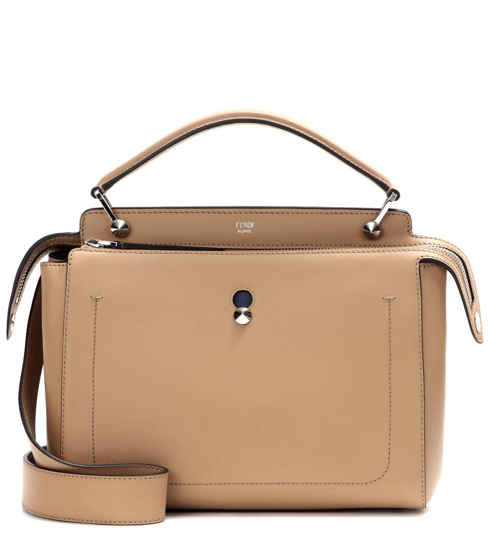 fa7e2b2e7f Fendi Dotcom Medium Leather Satchel Bag, Tan/Blue In Camel-Beige ...