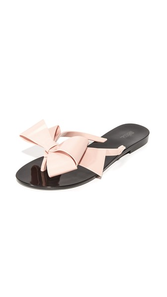 c7093844210f5f Melissa Harmonic Bow Iii Thong Sandals In Black Pink