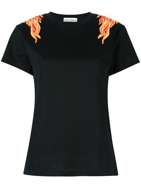 Paco Rabanne Flame Patch T-shirt In Black