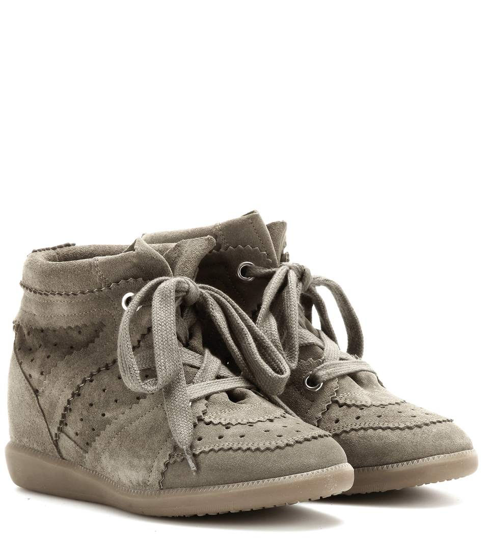 74a7607d878e Isabel Marant ÉToile Bobby Suede Wedge Sneakers In Army Green