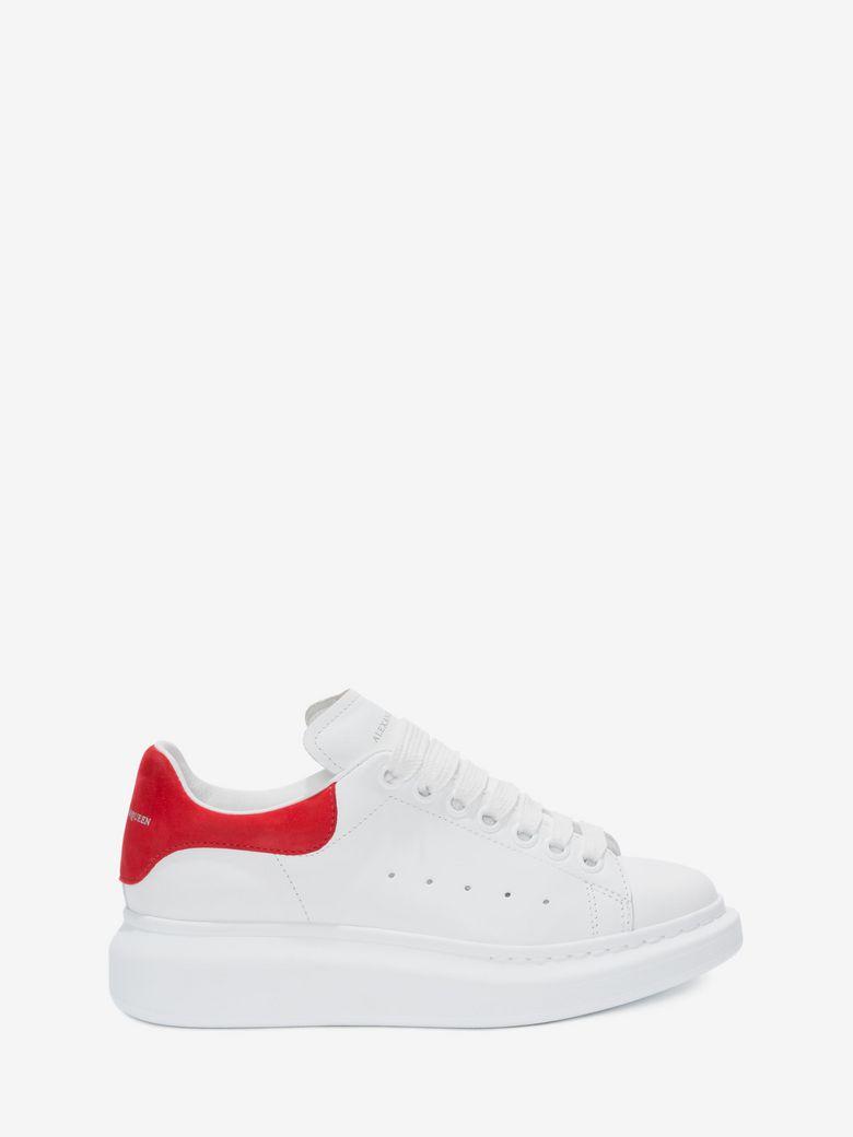 c8d6c98a4a733 Alexander Mcqueen Ladies Show Leather Platform Trainers In 9676 White  Crimson
