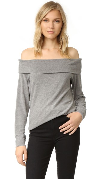 7515940846e7d3 Cupcakes And Cashmere  Brooklyn  Off The Shoulder Top In Heather ...