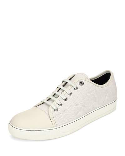 f44fdf4bbda LANVIN Textured Leather Low-Top Sneaker