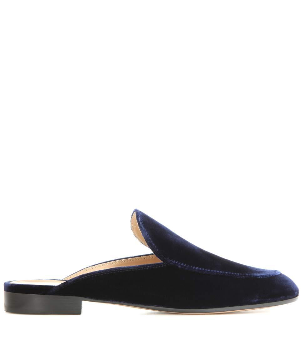 5cab590b92c Gianvito Rossi Exclusive To Mytheresa.Com - Palau Velvet Slippers In Pink