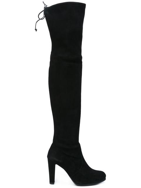 362795dc3b9 Stuart Weitzman Highland Suede Over-The-Knee Boots In Black