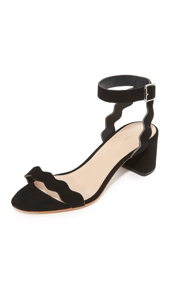 c896e103509 Loeffler Randall Women s Emi Suede Ankle Strap Block Heel Sandals In Black
