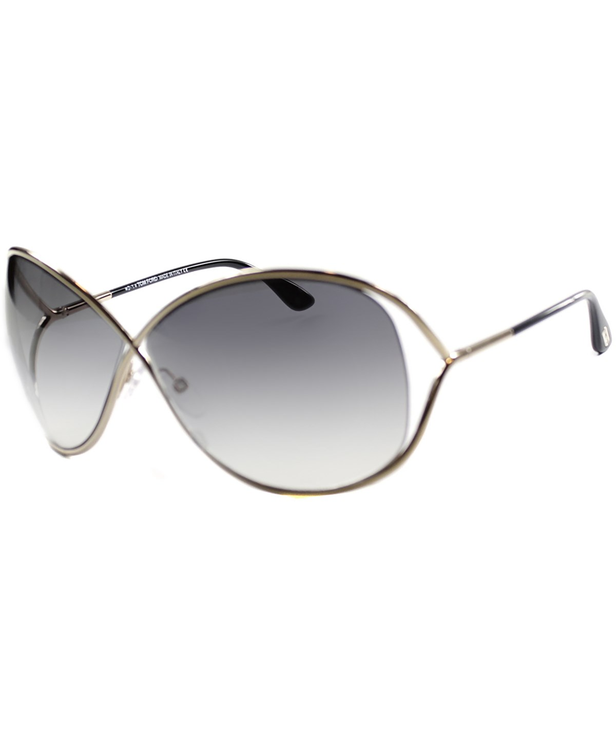 49646f1a903 Tom Ford Miranda 68Mm Open Temple Oversize Metal Sunglasses - Shiny Gunmetal