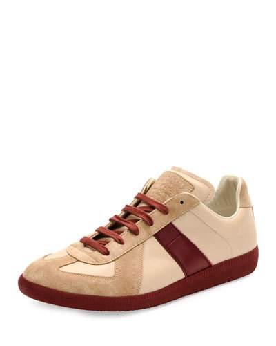 62a05d9dc9be Maison Margiela Replica Low-Top Leather   Suede Sneaker