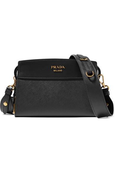 34b60739786ac8 Prada Mini Esplanade Leather Crossbody Bag In Eero | ModeSens