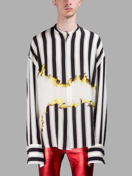 109d7f9bc1d32 Haider Ackermann Oversized Stripes Printed Silk Shirt