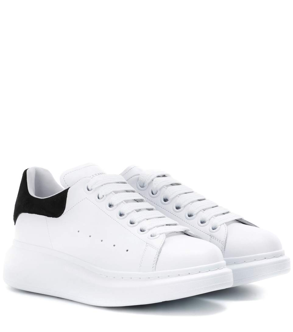 b020c165968f Alexander Mcqueen Leather Lace-Up Platform Sneakers