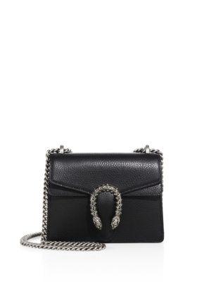 c59d5094ef0 Gucci Dionysus Mini Textured-Leather Shoulder Bag In 8176 Nero ...