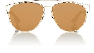 Dior Technologic Cutout Aviator Sunglasses, Golden Black   ModeSens 045c74bbb72a