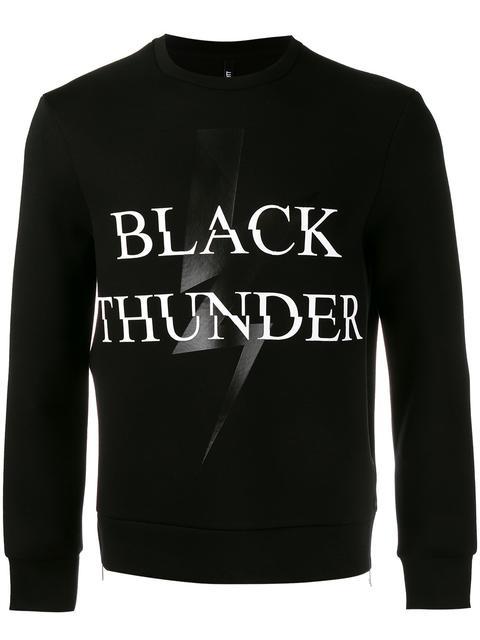 Neil Barrett Black Thunder Side-zip Neoprene Sweatshirt, Black