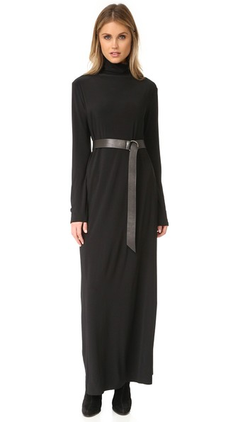 ae0195e57b82 Norma Kamali Kamali Kulture Go Turtleneck Maxi Dress In Black   ModeSens