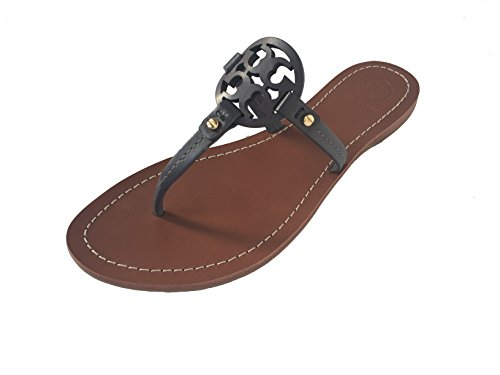 3046288fc Tory Burch Veg Leather Mini Miller Flat Thong Sandals Style No. 32340 In  Dark Grey