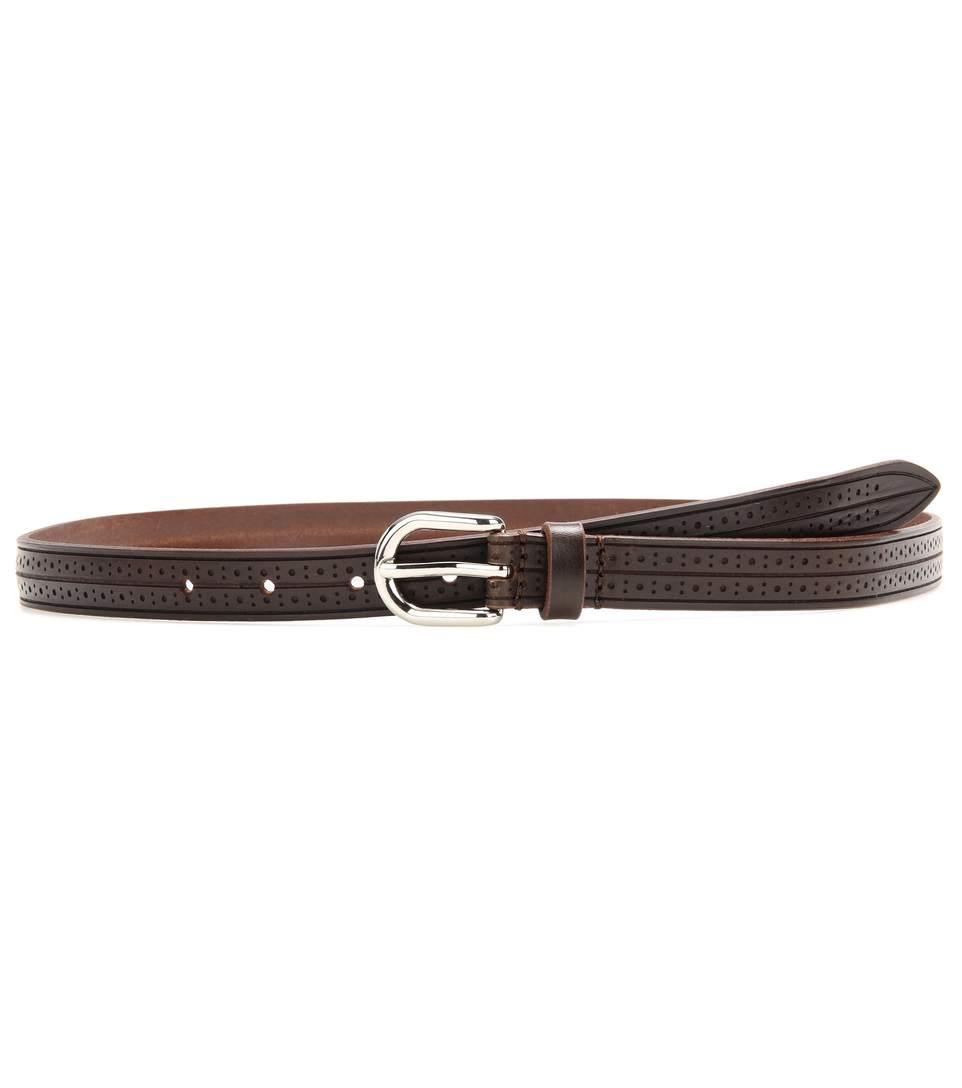 Isabel Marant Kaylee Embossed Leather Belt In Brown