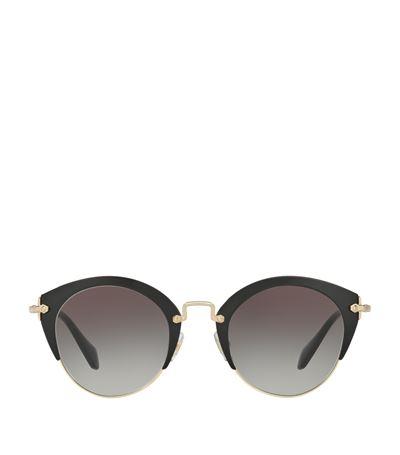 Miu Miu Noir Phantos Sunglasses In Black