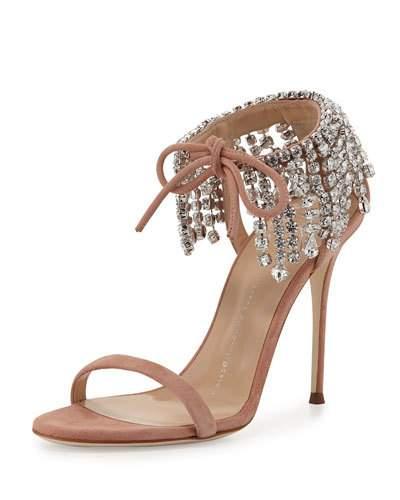 083f3e3e94bc3 Giuseppe Zanotti Mistico Swarovski Crystal Ankle Tie High Heel Sandals In  Candy