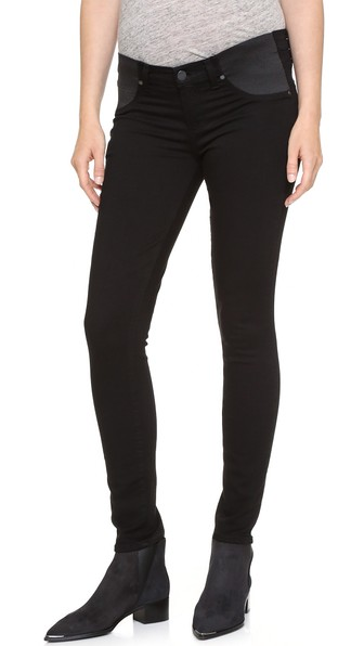 9bac49cda816c Paige Transcend Verdugo Ultra Skinny Maternity Jeans In Black Shadow ...