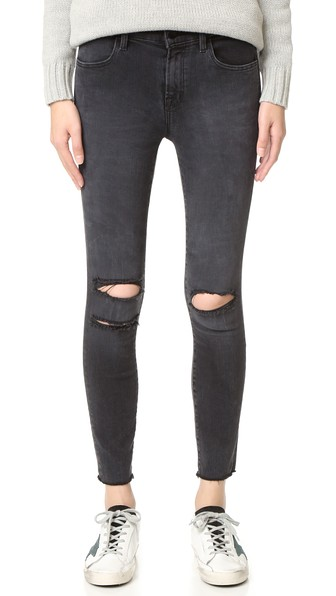 ba20f93bff3 J Brand Photo Ready Cropped Mid Rise Skinny Jeans In Mercy