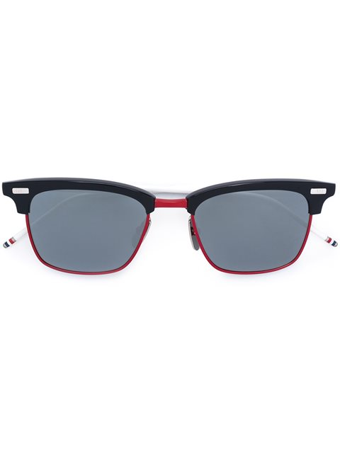 Thom Browne Navy, Red And Blue Sunglasses