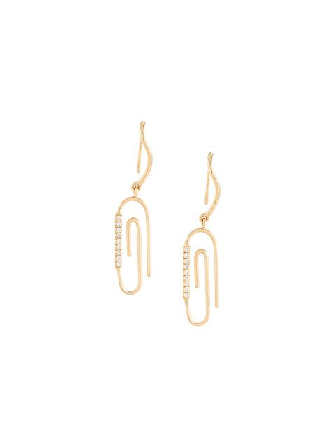 214374716 Aurelie Bidermann 18-Karat Gold Diamond Earring In Metallic | ModeSens
