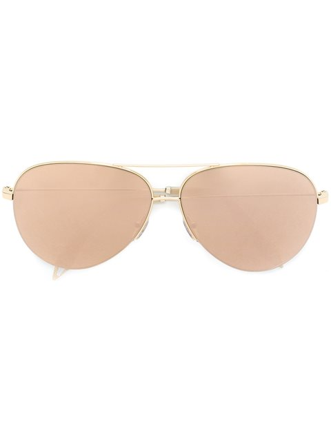 3ecee5c208b73 Victoria Beckham Classic Victoria 18Kt Gold-Plated Sunglasses In Metallic