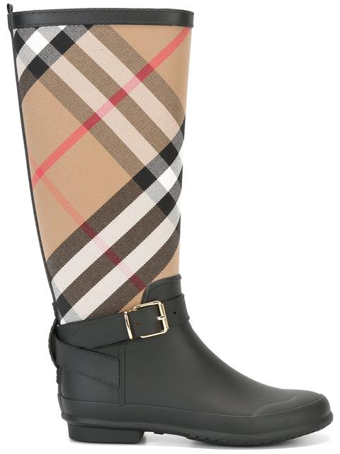 Burberry Women's Simeon Knee-high Vintage Check Boots In Hc/black
