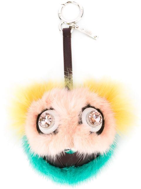 0b848e628b Fendi Dazzeling Bag Bug Fur Charm, Pink/Yellow/Blue, 4Rn Pink In ...