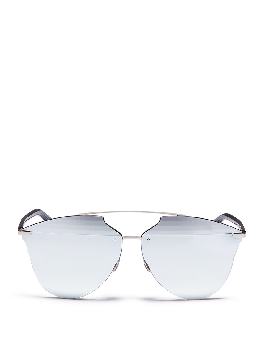 68de4d877c4 Dior   Reflected  Prism Effect Mounted Mirror Lens Sunglasses